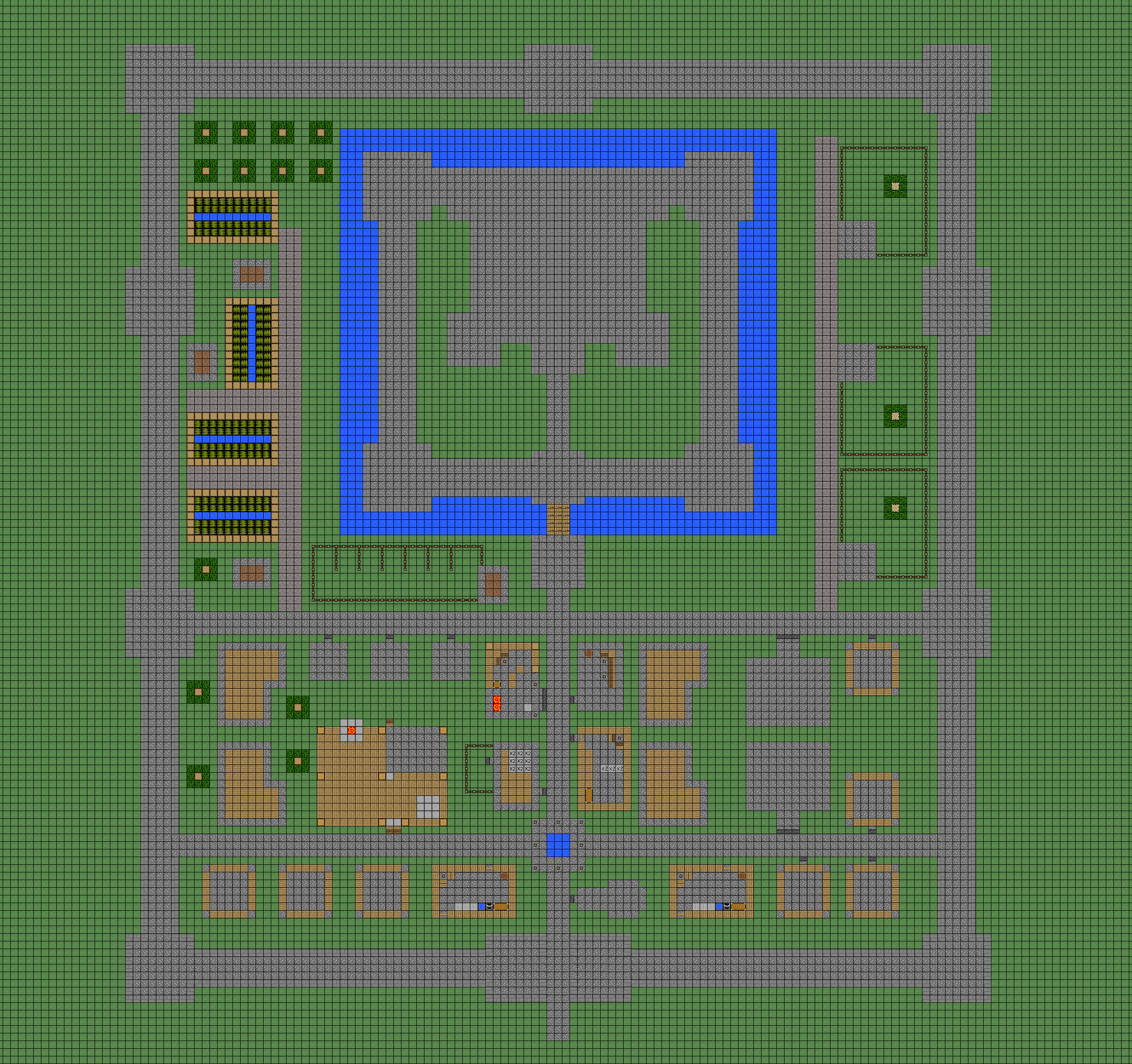 Another fortified village wip by coltcoyote on deviantart for Minecraft base blueprints