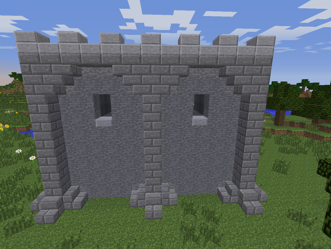 Castle styling ideas pt1 pic2 by coltcoyote on deviantart for Minecraft exterior wall design