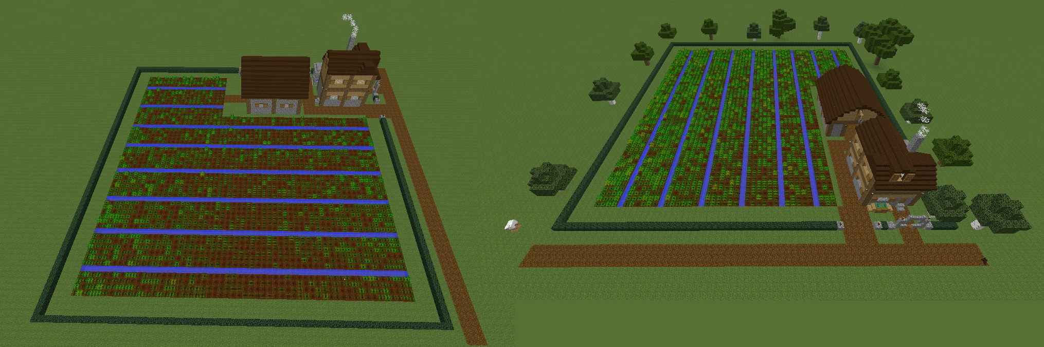 Early European 64x64 Minecraft farm idea by ColtCoyote on ...