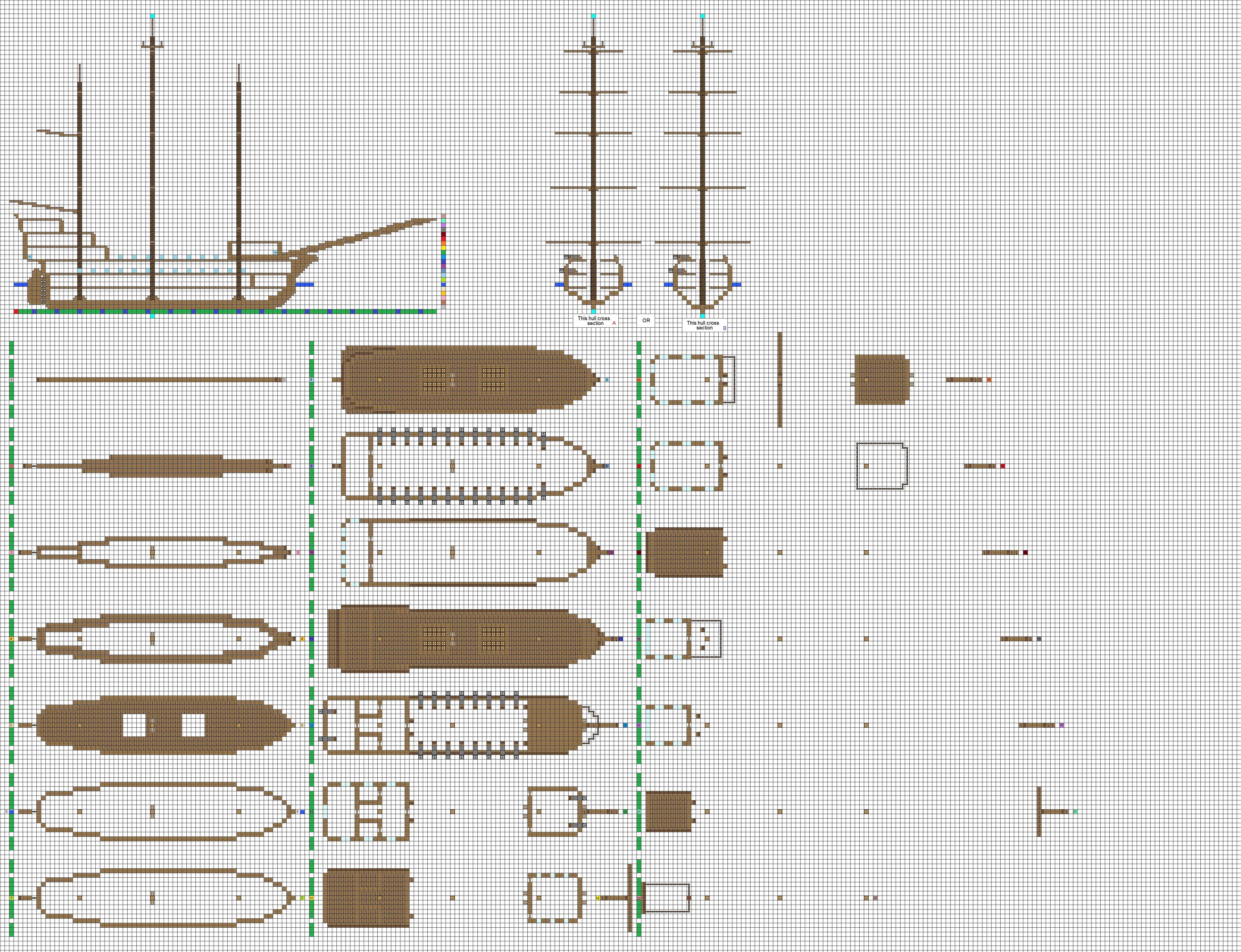 Pirate Ship Blueprints | www.imgkid.com - The Image Kid ...