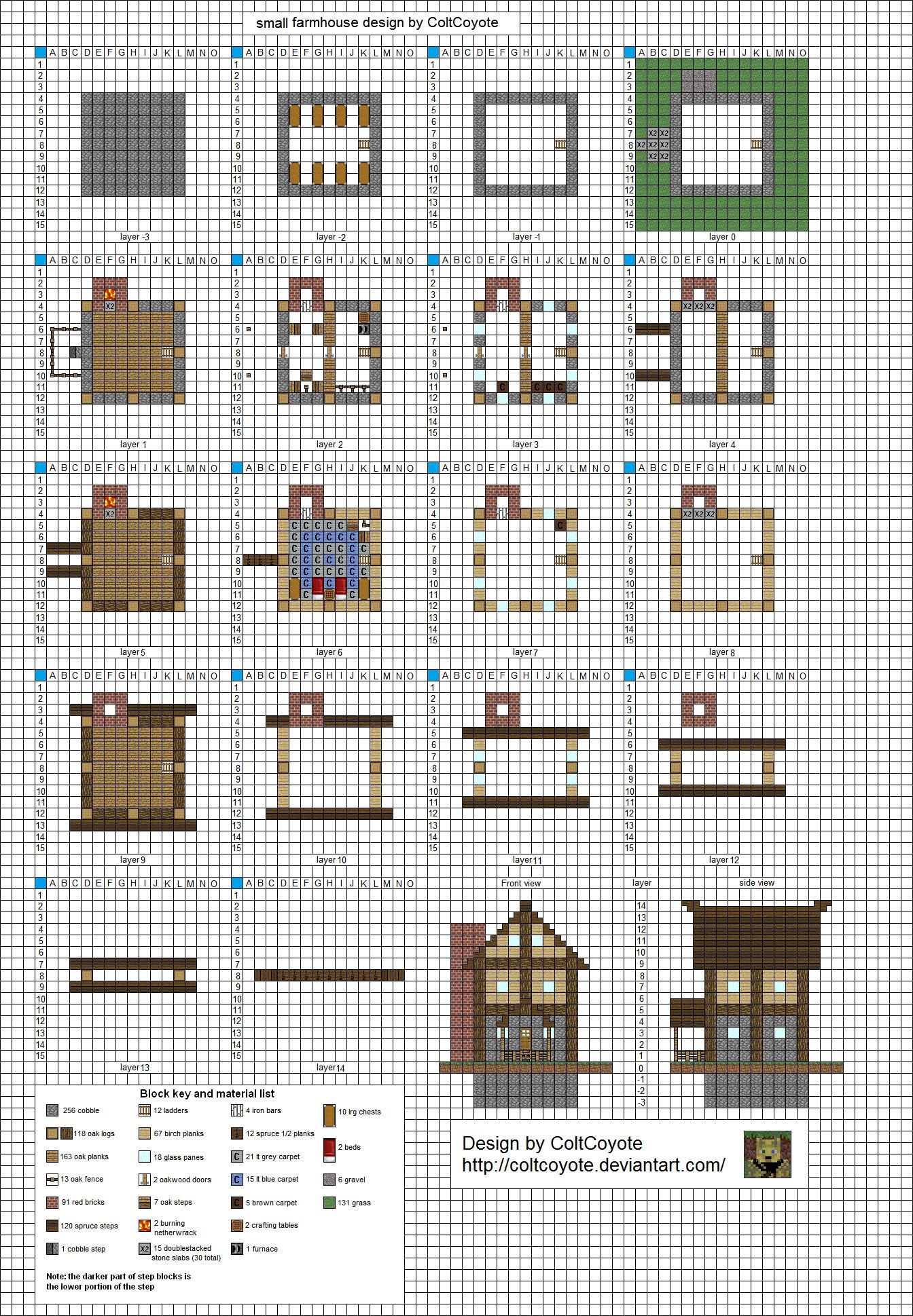 Minecraft House Blueprints Maker Free Design And