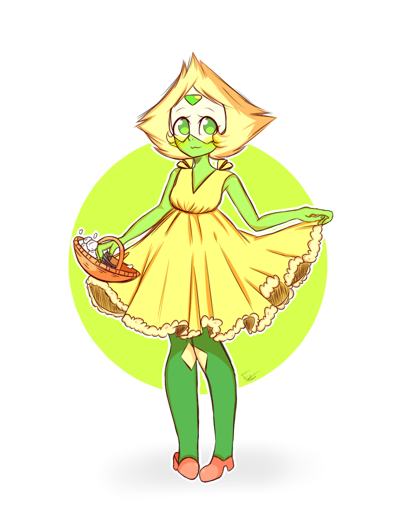 Omg the new episode was just AMAZING!!! And Peri was just ADO-RA-BLE with her dress, I really can't resist drawing this cute little gremlin <333 And most importantly.... FLOWERS FOR YOU!!! Speed...