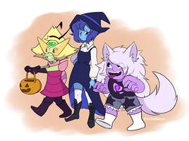 Let's go trick-or-treating!