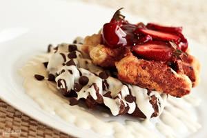 Strawberry Chocolate Waffle by LoaiYamani