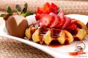 Strawberry Waffle by LoaiYamani