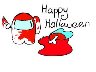 First Halloween among us fanart