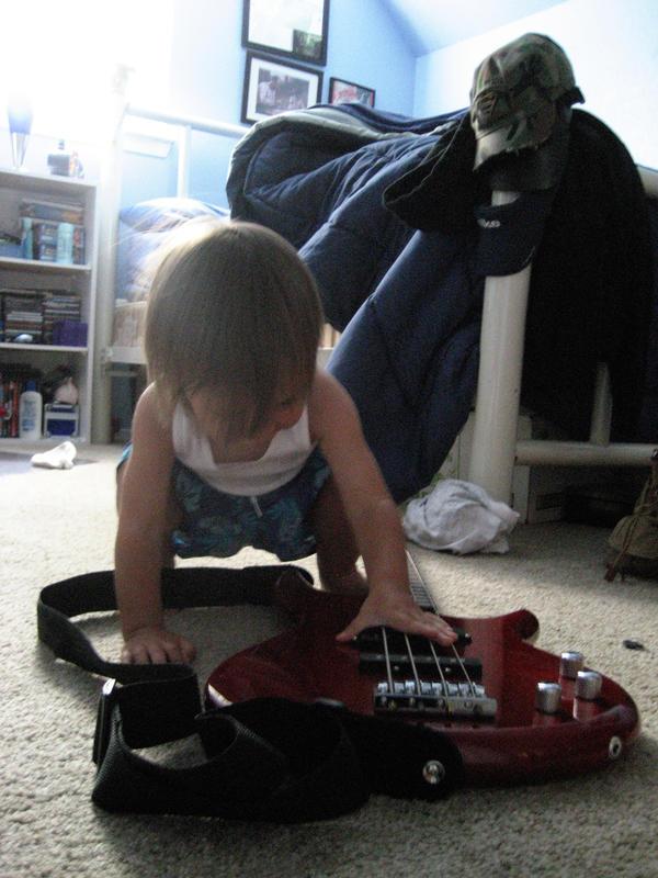 Baby Daniel - My Bass Playing by Mercy-Angel