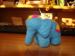 Little blue elephant by AksaStrig