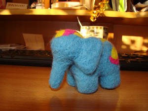 Little blue elephant