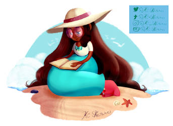 Serene Reading by kaciequeen