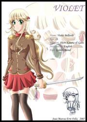 Violet Character Profile by jojoju