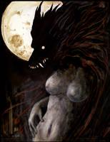 Grad Portfolio-'Wolf Woman' by Redpyre