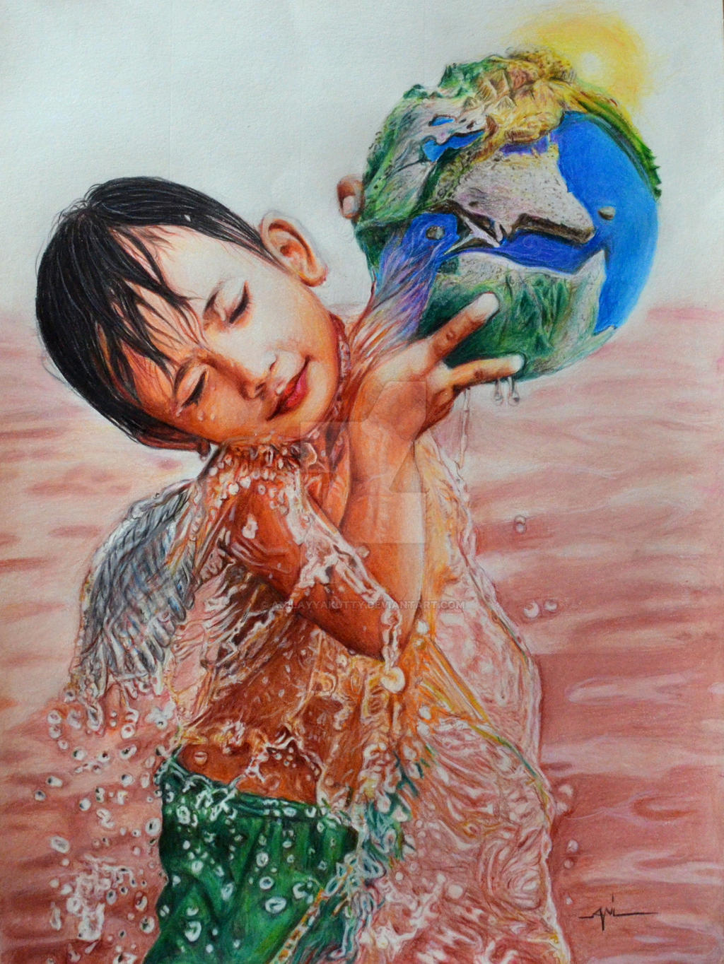 Angel Colour Pencil Drawing By Anil Ayyakutty By Anilayyakutty On Colour Drawing