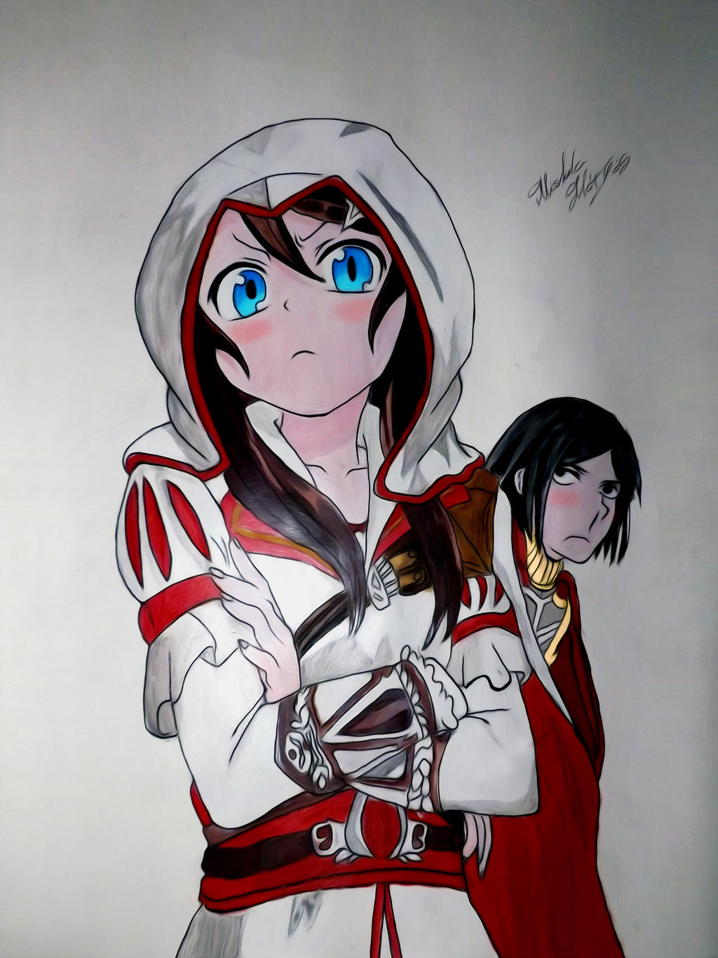 Assassin S Creed Anime Acryllic Painting By Mathias2107 On Deviantart