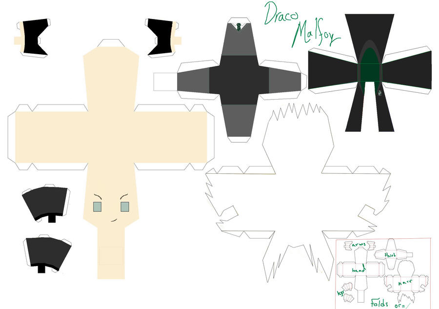 Papercraft Link Template Malfoy Papercraft Template by