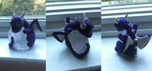 Purple Mini Dragon with Crystal by Agua-Turtle677893
