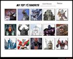Jefimus Top 10 favorite Giant Robots