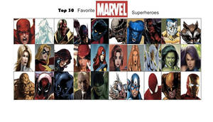 Jefimus' top 30 Marvel Superheroes by JefimusPrime