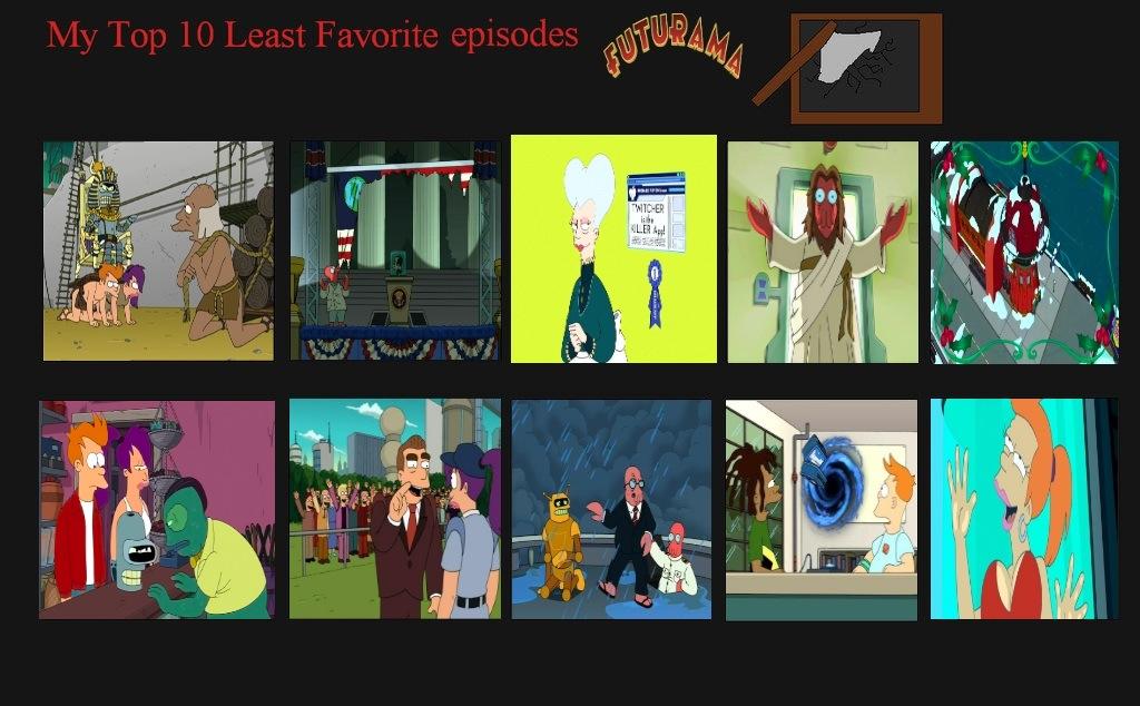 jefimus top 10 worst futurama episodes by jefimusprime on deviantart