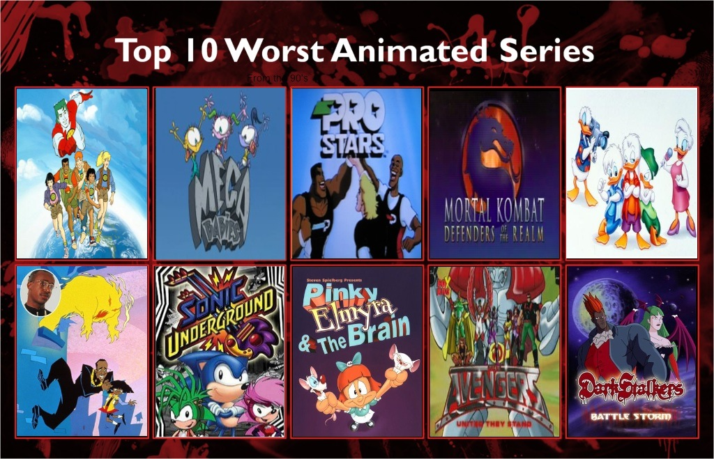 Jefimus Top 10 Most Hated 90 S Cartoons By Jefimusprime On Deviantart