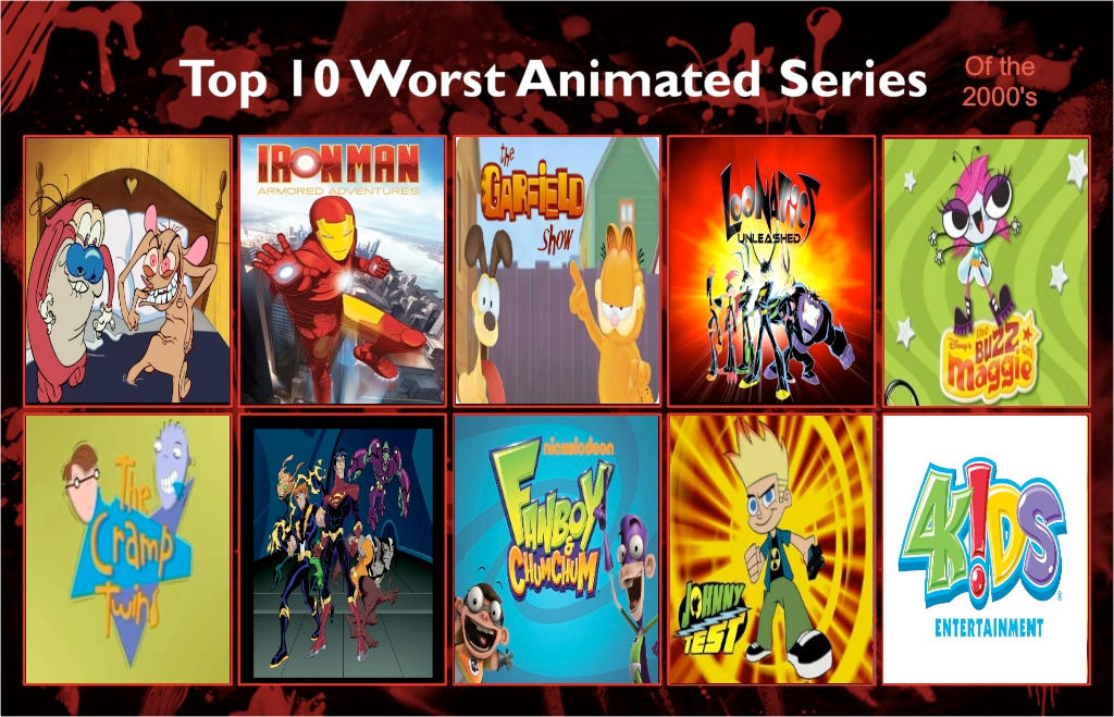 Jefimus Top 10 The Most Hated Cartoon Of The 2000 By Jefimusprime