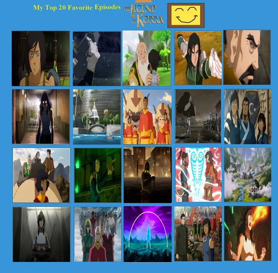 Jefimus top 20 Legend of Korra Episodes by JefimusPrime