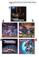 Top 5 Transformers animated series by JefimusPrime