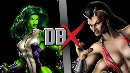 DBX- She-hulk vs Sheeva by JefimusPrime