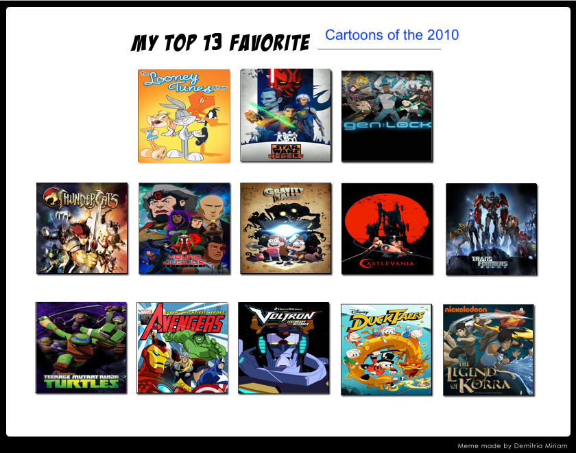 Jp S Top 13 Cartoons Of The 2010 S By Jefimusprime On Deviantart