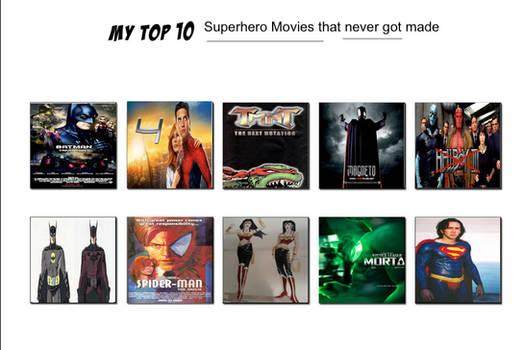 Jefimus Prime's Top 10 Superhero Movies that never