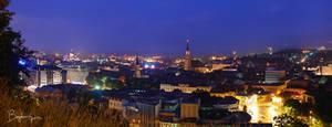 Cluj at night by BogdanEpure