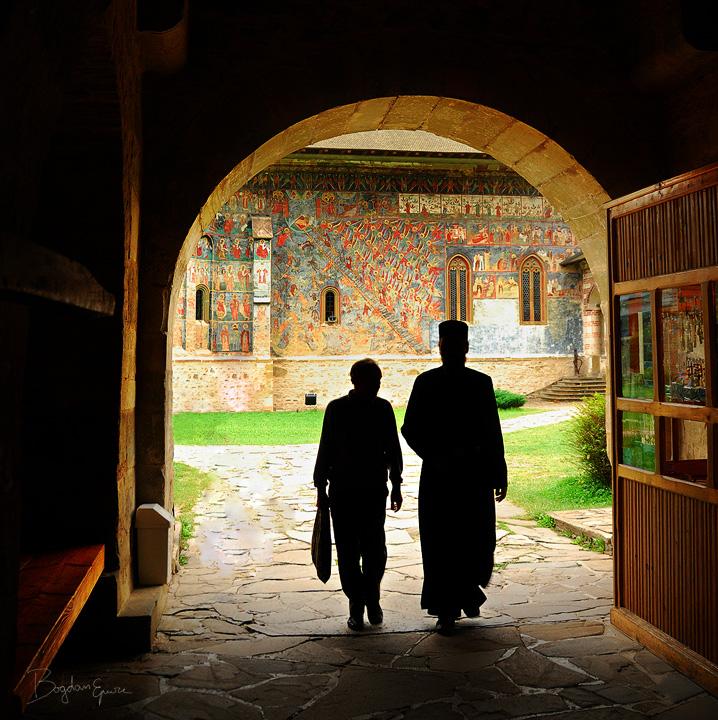 Entrance in Sucevita by BogdanEpure