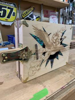 Princess Celestia Cigar Box Guitar Details 1