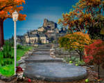 Autumn premade background by metalromantica