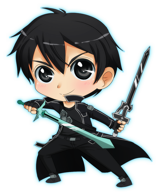 Anime Characters Use Dual Swords : Dual swords kirito by onirin on deviantart