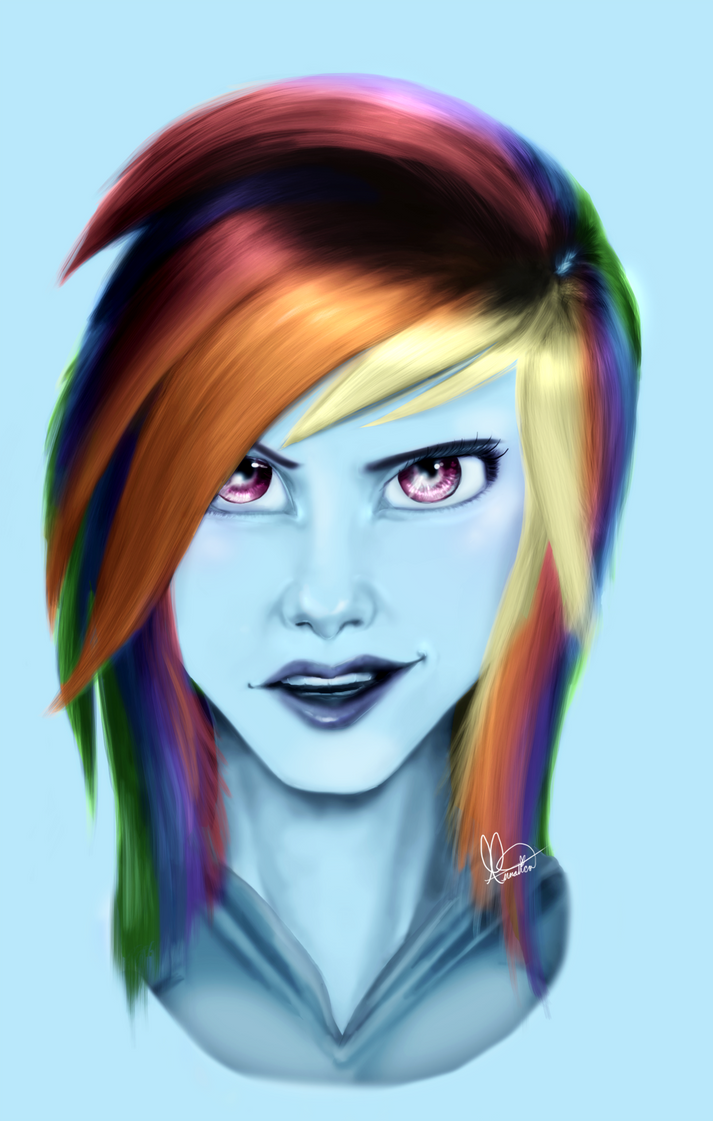 Humanized Rainbow Dash by Annatica