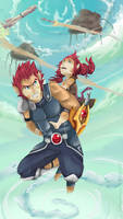Request - Lion-O and Maynus by Serena-Moretti