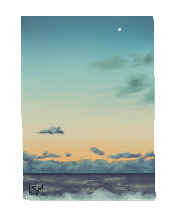 Landscape sketch by Serena-Moretti