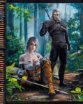 Ciri and Geralt Witcher 3