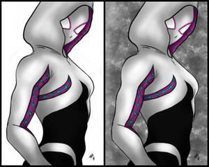 SpiderGwen Tutorial Complete by a-m-b-e-r-w-o-l-f