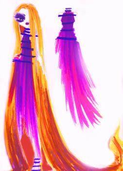 flashing rapunzel