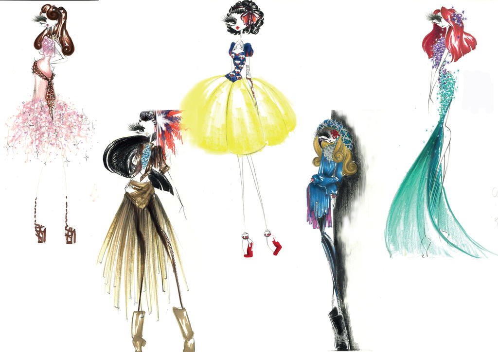 Disney Princess Fashion Sketch The