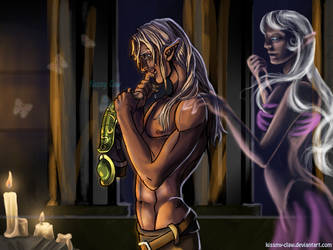 Zevran, the ultimate present (Dragon Age Origins) by Xeurum-Claw