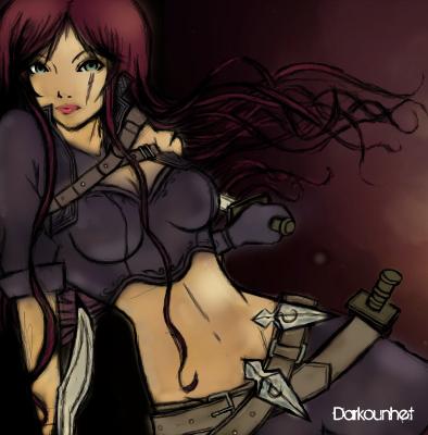League of Legends : Katarina by Darkounetlolz