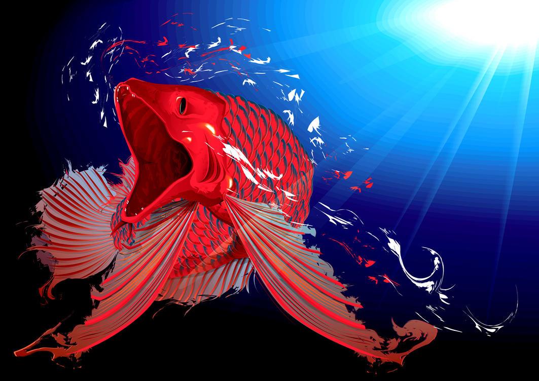 dragon fish by fiboy on DeviantArt