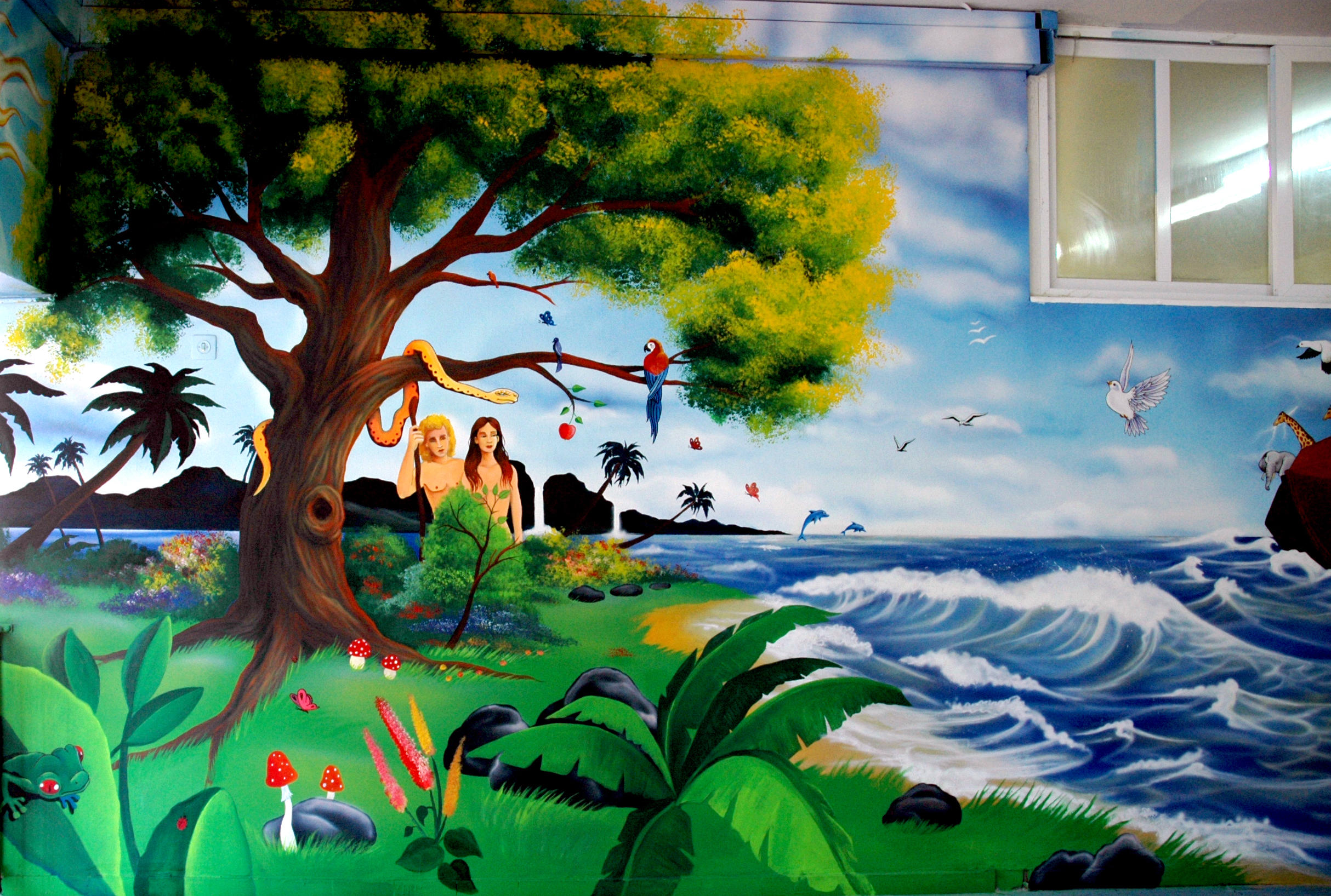Garden of eden by victor5 on deviantart for Creation mural kids
