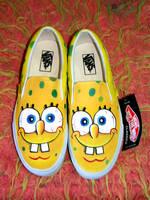 Sponge Bob Portrait by VICTOR5