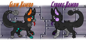(Open 1/2) Glow and Cyborg Kamibos Adopt Auction
