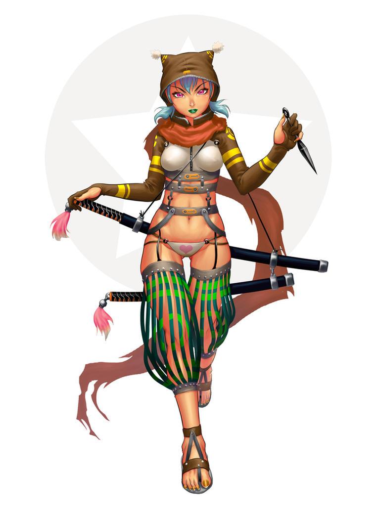 tanooki ninja by chesterocampo
