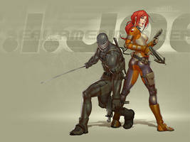 snake-eyes and scarlett